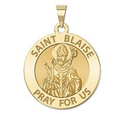 Saint Blaise Round Religious Medal   EXCLUSIVE