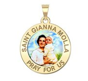 Saint Gianna Beretta Molla Round Color Religious Medal   EXCLUSIVE