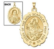Scapular Religious Medal Scalloped OVAL  EXCLUSIVE
