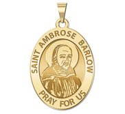 Saint Ambrose Barlow Oval Religious Medal  EXCLUSIVE