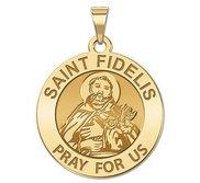 Saint Fidelis Round Religious Medal   EXCLUSIVE