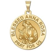 Blessed Anna Rosa Round Religious Medal  EXCLUSIVE