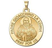 Padre Gioacchino La Lomia Round Religious Medal   EXCLUSIVE
