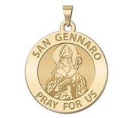 San Gennaro Round Religious Medal  EXCLUSIVE