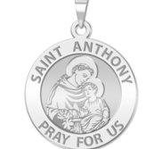 Saint Anthony Round Religious Medal  EXCLUSIVE