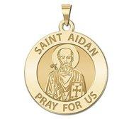 Saint Aidan Round Religious Medal  EXCLUSIVE