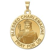 Blessed Charlemagne Round Religious Medal    EXCLUSIVE
