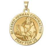 Blessed Herman Contractus Round Religious Medal    EXCLUSIVE