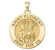 Saint Florent Round Religious Medal   EXCLUSIVE