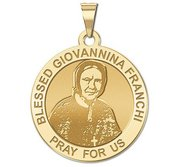 Blessed Giovannina Franchi Round Religious Medal    EXCLUSIVE