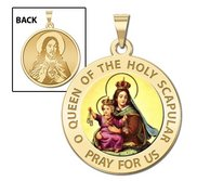Scapular Religious Medal  Color EXCLUSIVE