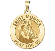 Saint Monica w  her son Saint Augustine Religious Medal  EXCLUSIVE