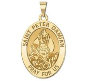 Saint Peter Damian Oval Religious Medal  EXCLUSIVE