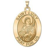 Saint Lucy Religious Medal   EXCLUSIVE