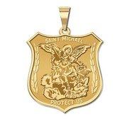 14K EXCLUSIVE Saint Michael Religious Medal
