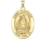 Saint Clotilde OVAL Religious Medal   EXCLUSIVE