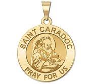 Saint Caradoc Round Religious Medal    EXCLUSIVE