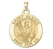 Saint Alexis Round Religious Medal  EXCLUSIVE