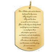 Lord s Prayer  Dog Tag Script Pendant