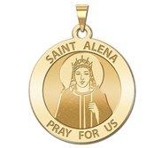 Saint Alena Round Religious Medal  EXCLUSIVE