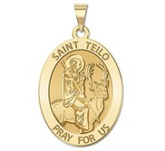 Saint Teilo   Oval Religious Medal  EXCLUSIVE