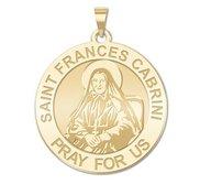 Saint Frances Cabrini Round Religious Medal   EXCLUSIVE