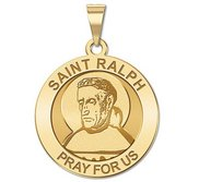 Saint Ralph Round Religious Medal  EXCLUSIVE