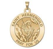 Saint Hermengild Round Religious Medal   EXCLUSIVE