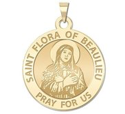 Saint Flora of Beaulieu Round Religious Medal   EXCLUSIVE