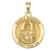 Saint Guarin Round Religious Medal  EXCLUSIVE