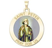Saint Peter Religious Medal  Color EXCLUSIVE