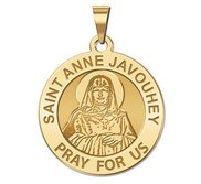 Saint Anne Javouhey Round Religious Medal  EXCLUSIVE