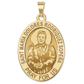 Saint Maria Dolores Rodriguez Sopena   Oval Religious Medal   EXCLUSIVE