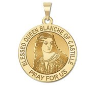 Blessed Queen Blanche of Castille Round Religious Medal   EXCLUSIVE