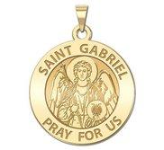 Saint Gabriel Round Religious Medal   EXCLUSIVE