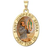 Saint Junipero Serra Oval Medal  EXCLUSIVE