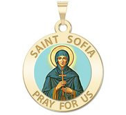 Saint Sofia Round Color Religious Medal  EXCLUSIVE