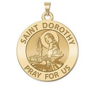 Saint Dorothy Round Religious Medal  EXCLUSIVE