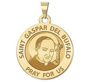 Saint Gaspar del Bufalo Round Religious Medal    EXCLUSIVE