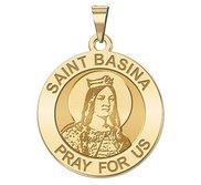 Saint Basina Round Religious Medal  EXCLUSIVE