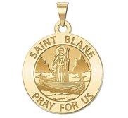 Saint Blane Round Religious Medal   EXCLUSIVE
