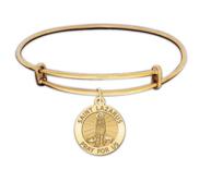 Saint Lazarus Expandable Embossed Bracelet
