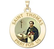 Saint Thomas Aquinas Religious Medal   EXCLUSIVE