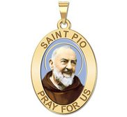 Saint Pio of Pietrelcina    OVAL  Color EXCLUSIVE