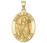 Saint Emidio Oval Religious Medal   EXCLUSIVE
