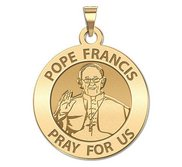 Pope Francis Religious Medal Round Laser Engraved  EXCLUSIVE
