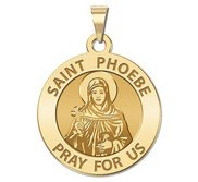 Saint Phoebe Religious Medal  Round EXCLUSIVE