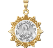 Immaculate Heart of Mary Two Tone Sun Border  EXCLUSIVE