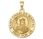 Saint Charles Martel Round Religious Medal    EXCLUSIVE