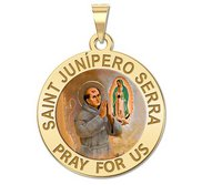 Saint Junipero Serra Religious Color Medal  EXCLUSIVE